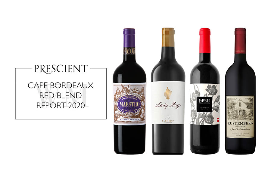 FOUR OF OUR WINES RECEIVES 90+ POINTS IN THE PRESCIENT CAPE BORDEAUX RED BLEND REPORT 2020 image main
