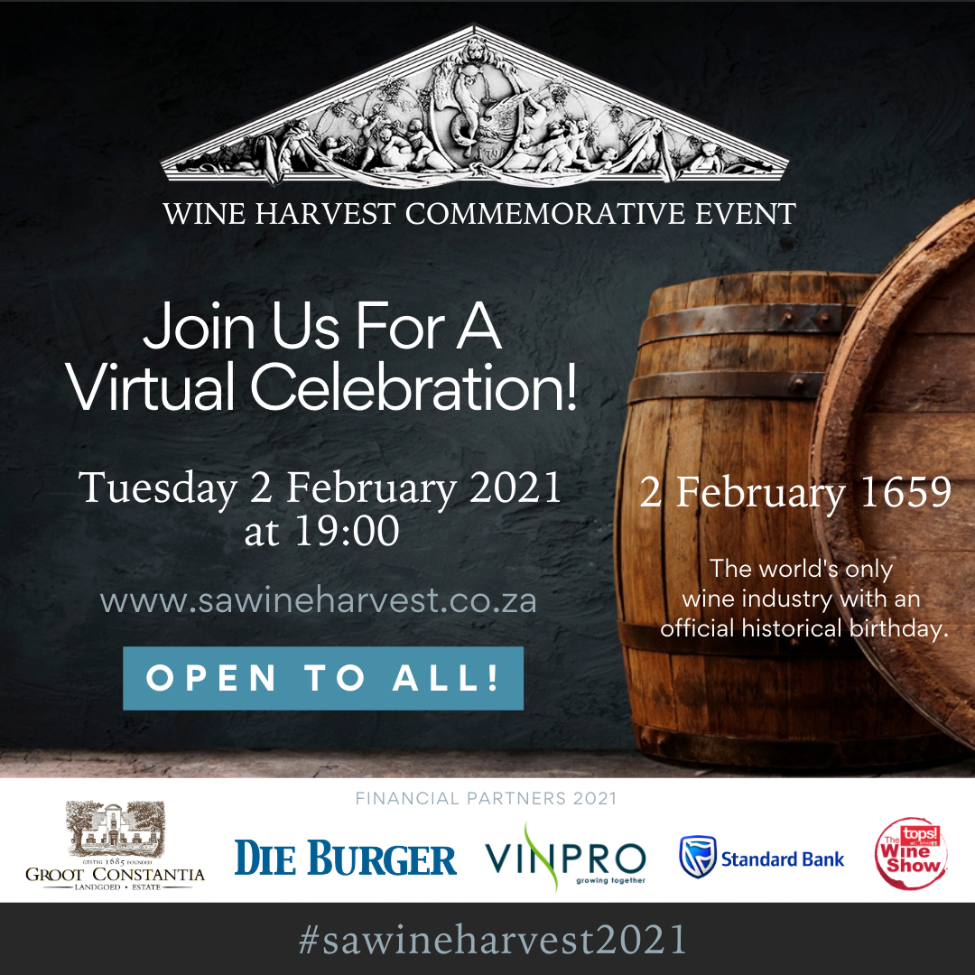 Groot Constantia Virtual Wine Harvest Commemorative Event image main